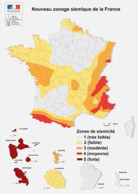 Aléas sismiques en France
