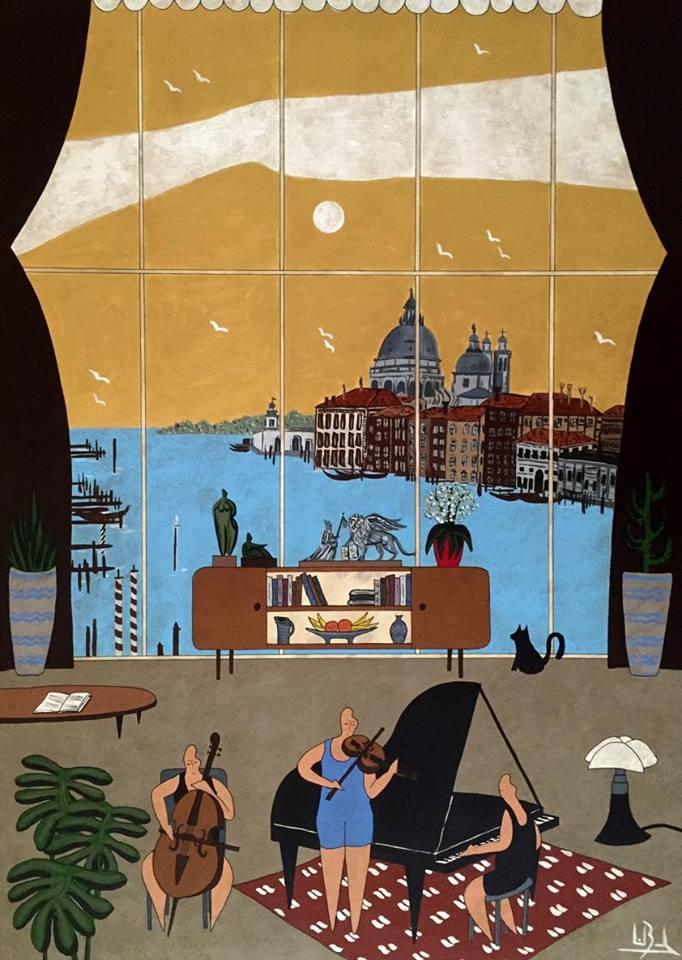 Tableau Venise - Lionel Borla