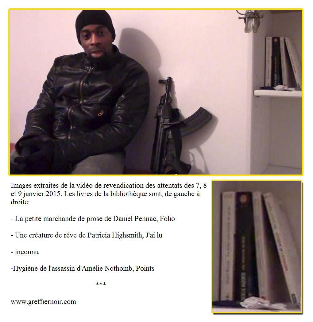 Charlie Hebdo complot video revendication amedi coulibaly highsmith pennac nothomb creature reve.jpg