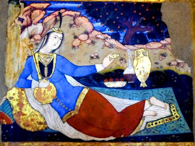 Fresque du palais de Tchehel Sotoun, Ispahan 2
