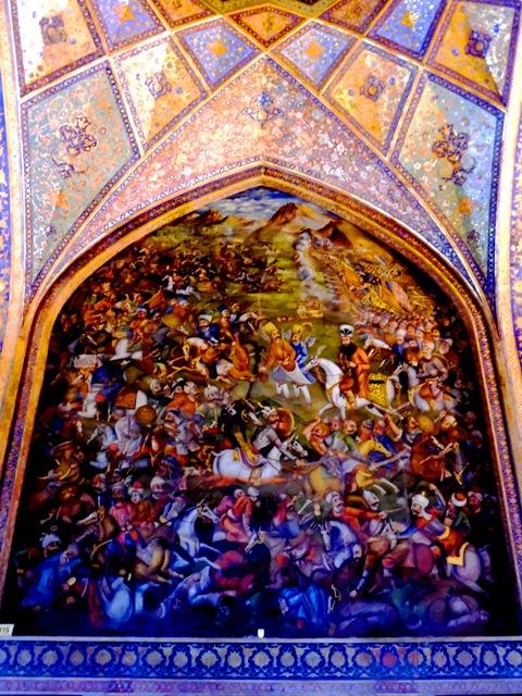 Fresque du palais de Tchehel Sotoun, Ispahan 1
