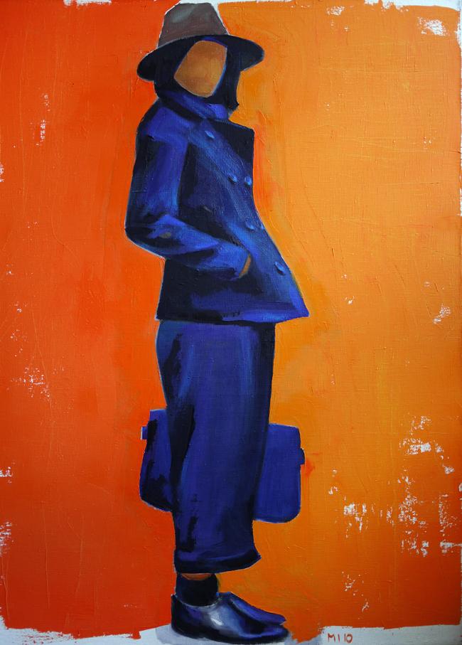 Figure fond orange