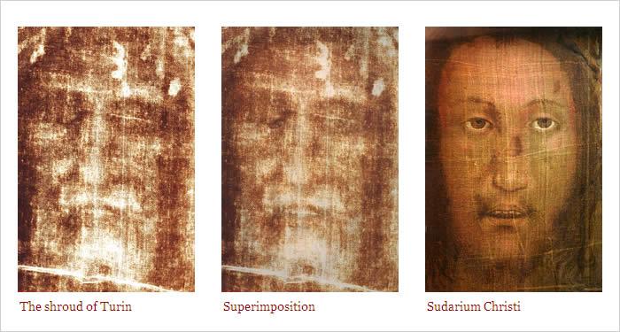Comparaison suaires Turin - Manopello