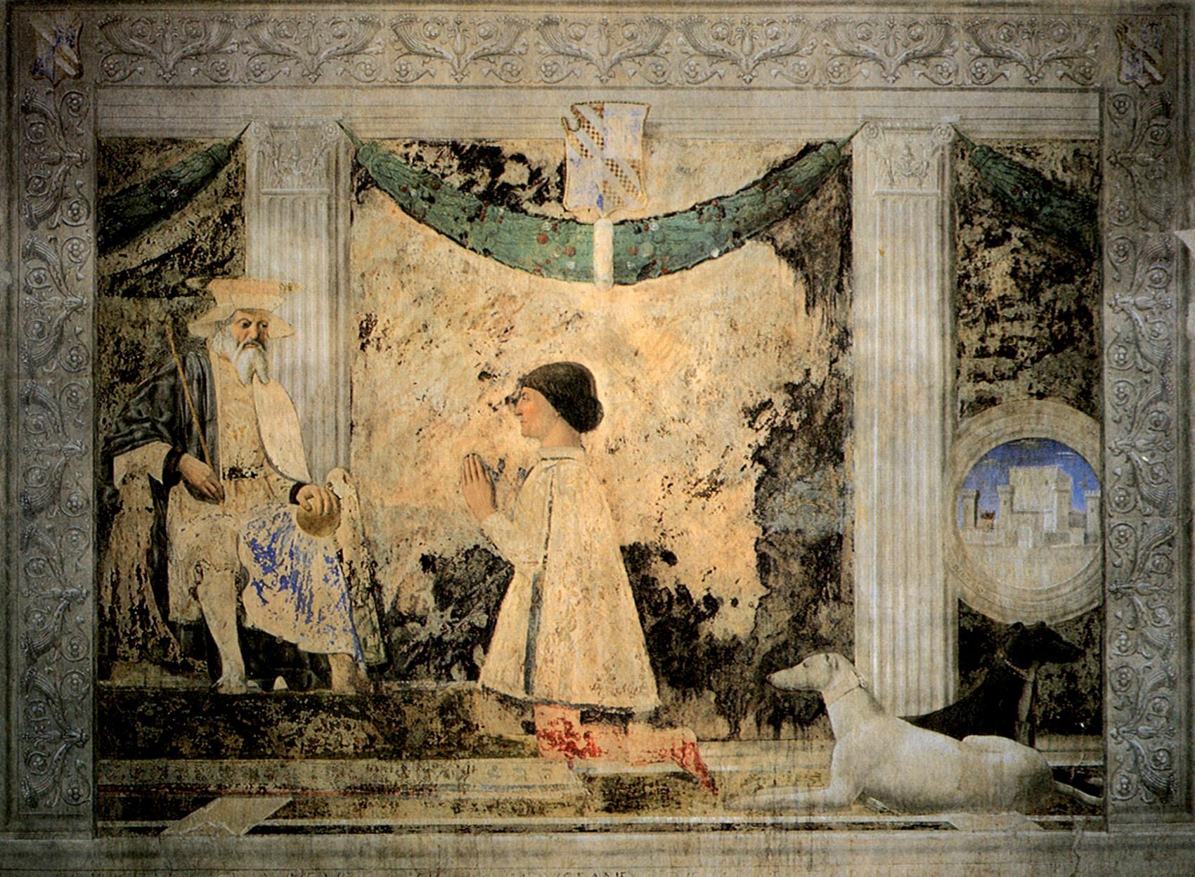 Piero della Francesca Sigismondo Pandolfo Malatesta en prière devant Saint Sigismond