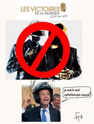 Les Daft Punk censurés?