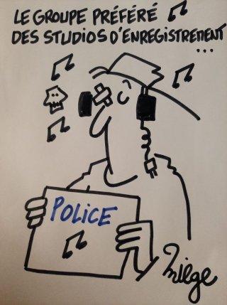 Police en studio