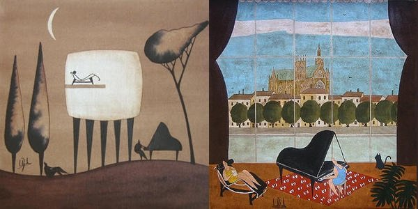 Lionel Borla, peintre d'un monde relié